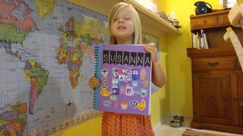 Susanna's Five in a Row notebook