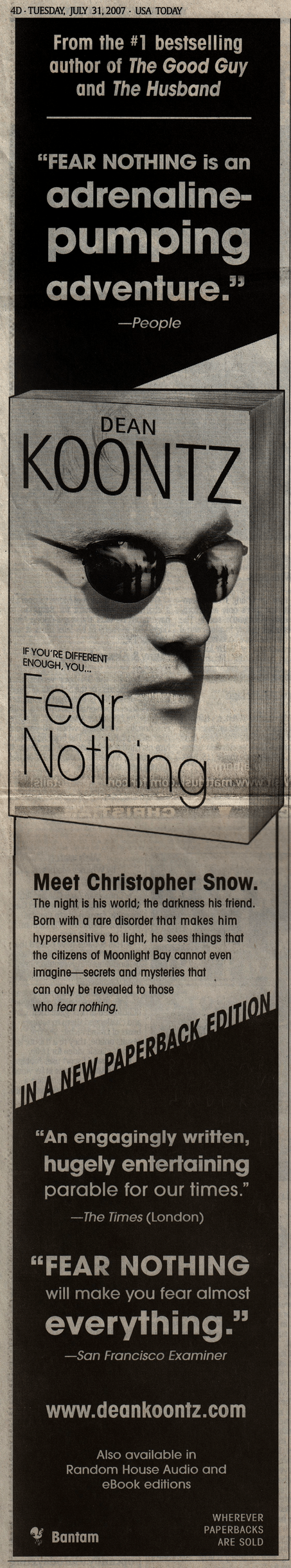 2007.07.31 Fear Nothing ad - USA Today