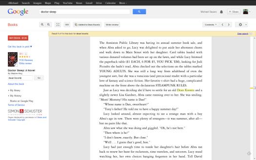 Doctor Sleep by Stephen King p183