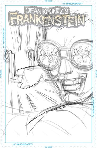Frankenstein Storm Surge #2 sketch