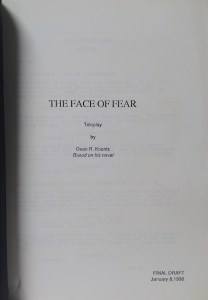 The Face of Fear (Screenplay)