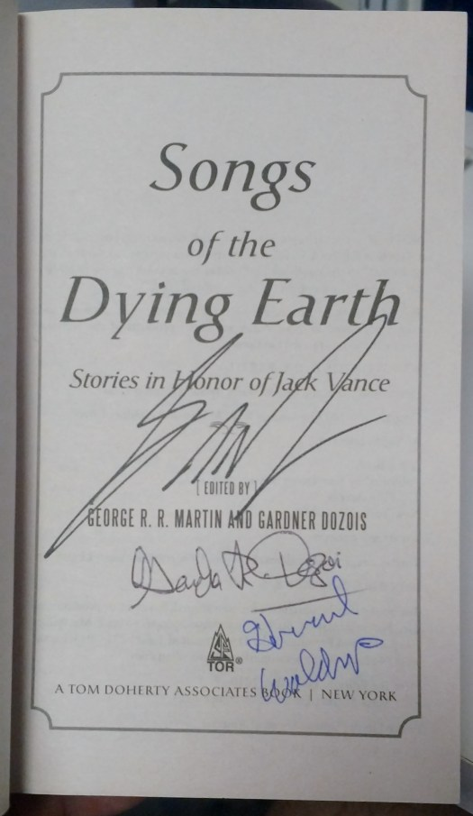 Songs of the Dying Earth autographed PBK