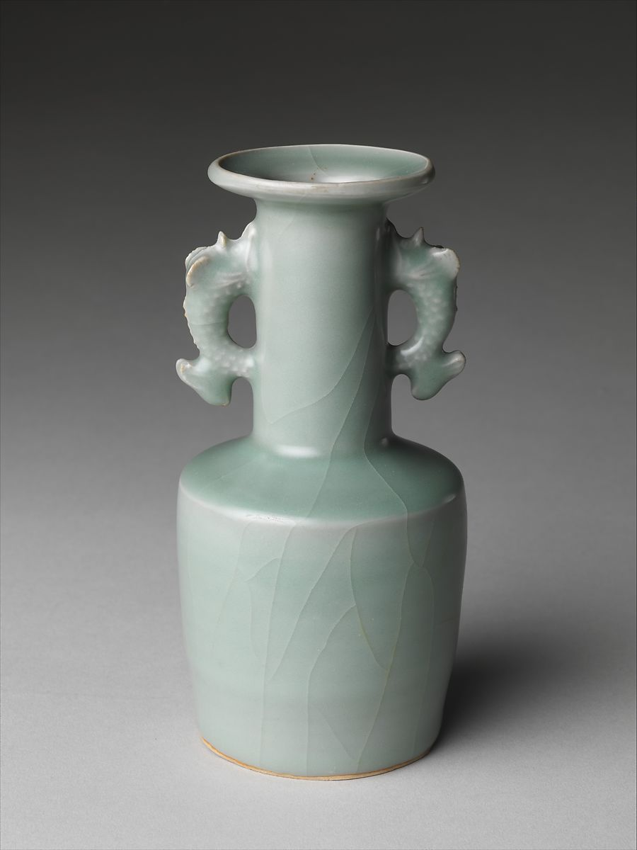 Vase With Dragonfish Handles China Southern Song Dynasty 11271279 The Met