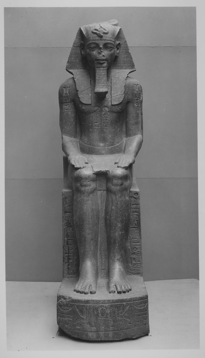 Colossal Seated Statue Of Amenhotep Iii Reworked