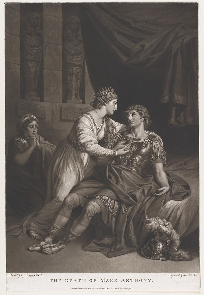 Thomas Watson The Death Of Mark Antony Shakespeare