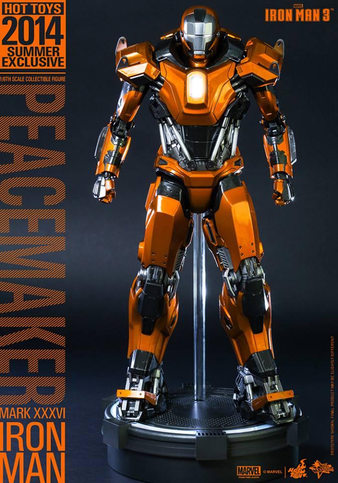 Hot Toys Iron Man Mark XXXVI Peacemaker From Iron Man 3