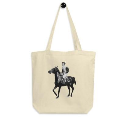 tote bag jockey cheval