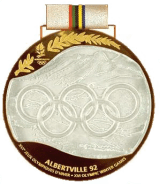 1992 Albertville winner medal recto olympic memorabilia