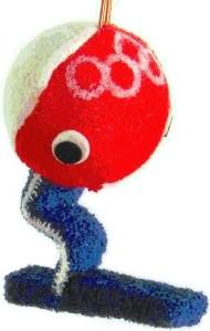 1968 Grenoble mascotte olympique shuss en tissu