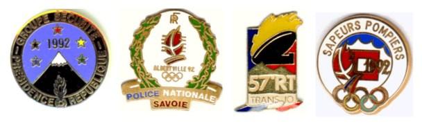 1992 Albertville security pins