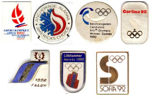 1992 Albertville bid cities pins