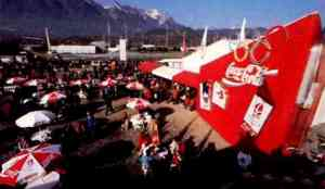 1992 Albertville Coca-Cola pin trading center