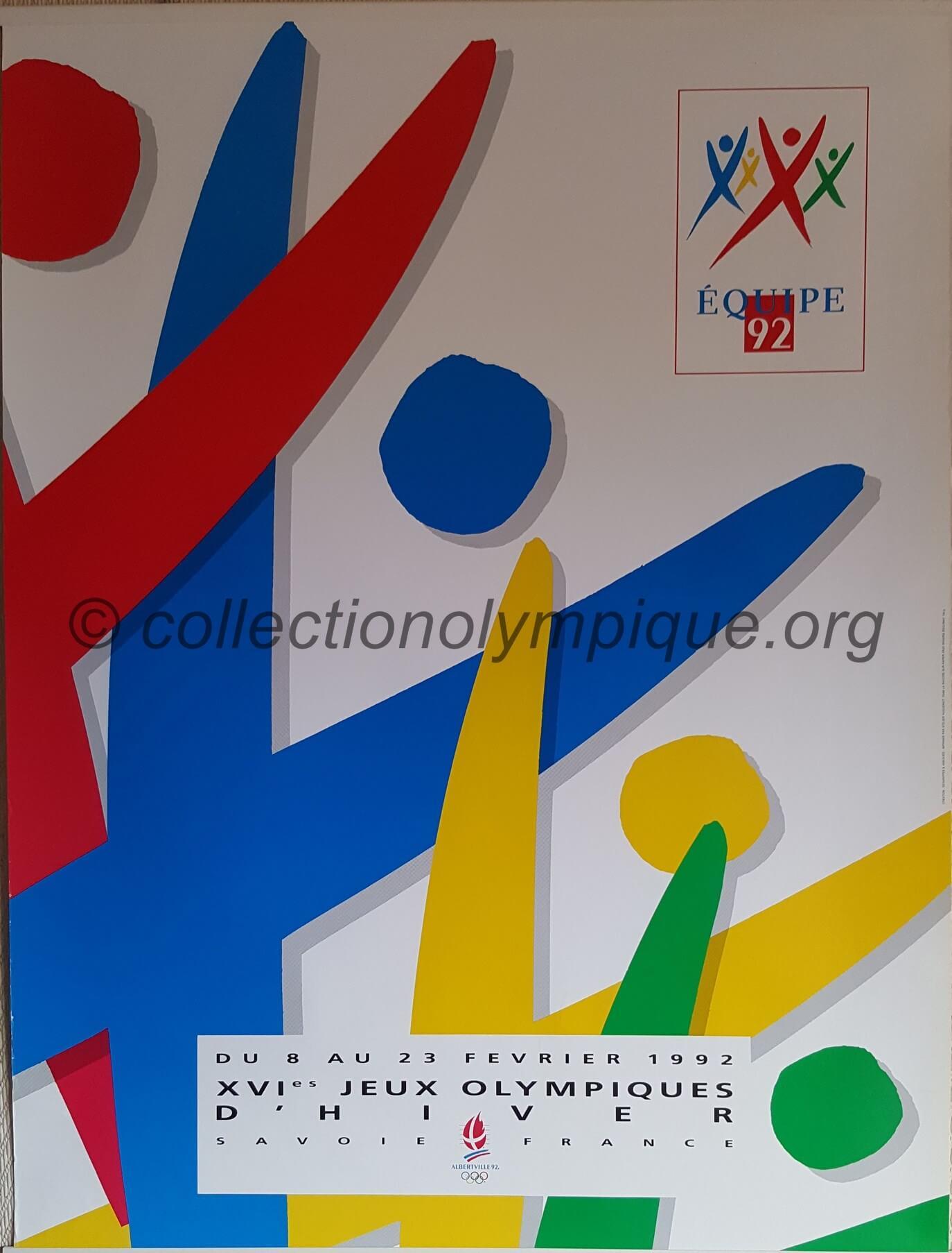 1992 Albertville olympic poster volunteers Team 92 60 X 80 cm