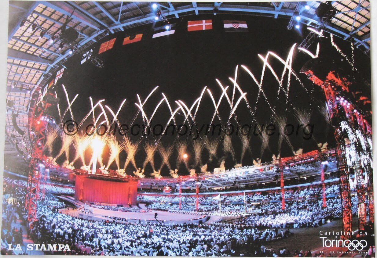 2006 Torino Stampa olympic poster Closing Ceremony 42 x 29.5 cm