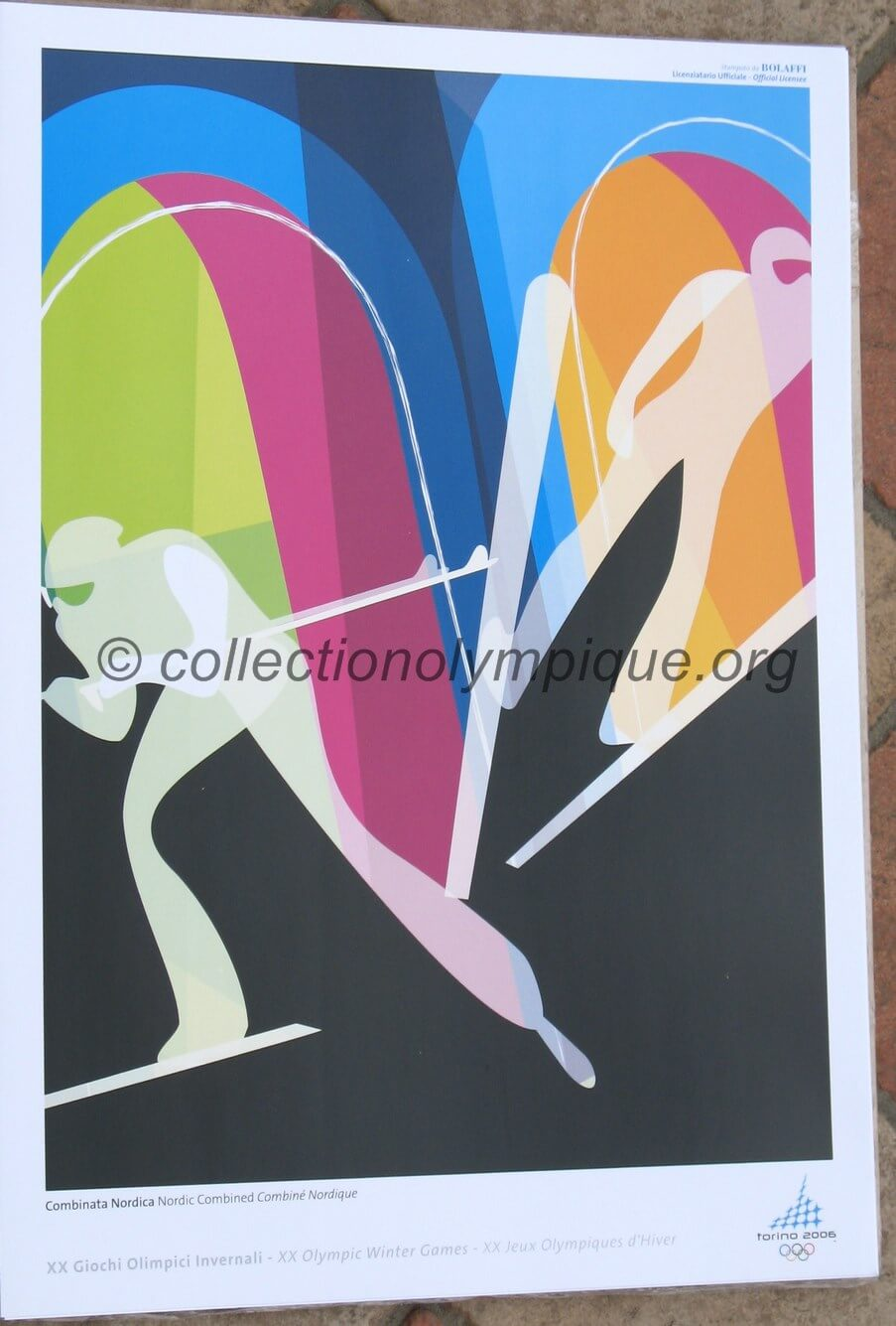 2006 Torino Olympic poster Nordic combined 42 x 29,5 cm