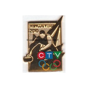 2010 Vancouver media pin, CTV curling