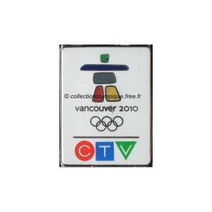 2010 Vancouver media pin, CTV