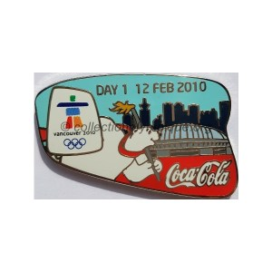 2010 Vancouver sponsor pin, Coca-Cola pin of the day 1