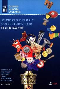 Lausanne 1999 affiche 5ème foire mondiale des collectionneurs olympiques