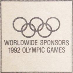 Top Club Worldwide sponsors 1992 olympic games logo