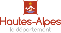 Logo du conseil départemental des Hautes-Alpes, exposition olympique et sportive.