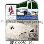 19 01 Club Coubertin Renault bus FR1 émail à froid signé © COJO 1991