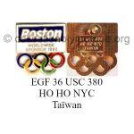 25 12 Club Top pin's Boston émail grand feu signé 36 USC 380 HO HO NYC Taïwan
