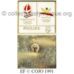 48 16 Club Top pin's Philips Albertville 1992 / Barcelone 1992 émail à froid signé © COJO 1991