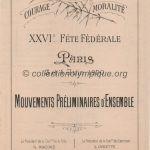 1900 Paris programme olympique gymnastique, 03-04/06/1900 24 x 14,2 cm journalier