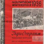 1936 Garmisch-Partenkirchen programme olympique de la cérémonie d'ouverture, 06/02/1936 13,5 x 20,5 cm