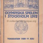 1912 Stockholm programme olympique journalier, 11/07/1912 22,2 x 14,9 cm