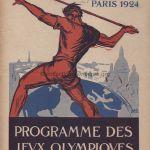 1924 Paris programme olympique journalier athlétisme, 10/07/1924 réunion n°48 27,1 x 22 cm