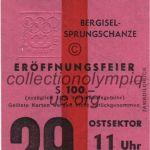 1964 Innsbruck billet olympique cérémonie d'ouverture 29/01/1964, 10,7 x 6,0 cm