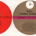 1964 Tokyo billet olympique cérémonie d'ouverture, 10/10/1964, 18 x 8 cm