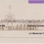 1984 Los Angeles billet olympique cérémonie d'ouverture, 28/07/1984, 19 x 7cm