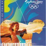 2000 Sydney billet olympique cérémonie d'ouverture, 16/09/2000, 19,2 x 9,5 cm