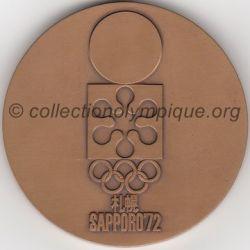 1972 Sapporo médaille de participant, recto