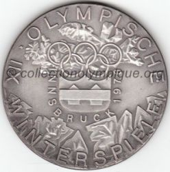 1976 Innsbruck médaille de participant, recto