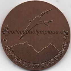 1992 Albertville médaille de participant paralympique, recto
