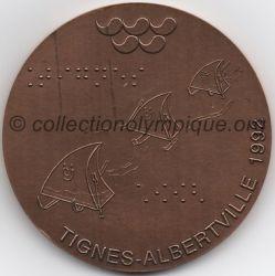 1992 Albertville médaille de participant paralympique, verso