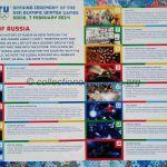 2014 Sotchi programme olympique cérémonie ouverture feuillet