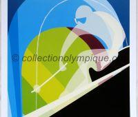 2006 Torino Olympic Poster downhill skiing 42 x 29,5 cm