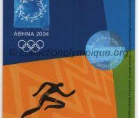 2004 Athènes billet d'entrée olympique session athlétisme du 27 Août