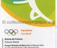 2016 Rio billet d'entrée olympique session handball du 17 Août