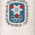 1968 Grenoble olympic opening ceremony program, jacket