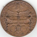 1928 Amsterdam olympic participant medal recto, bronze - athlets - 55 mm - 5901 ex. - designer Johannes Cornelis WIENECKE