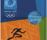 2004 Athènes billet d'entrée olympique session athlétisme du 28 Août