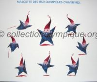 1992 Albertville olympic card mascot Magic 30 x 24 cm