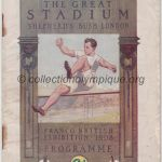 1908 Londres programme olympique journalier, athlétisme, cyclisme, natation, gymnastique
