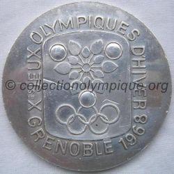 1968 Grenoble médaille COJO en argent, recto
